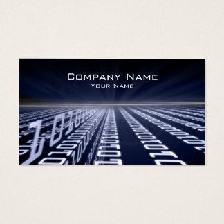 Binary Code Matrica Blue Business Card