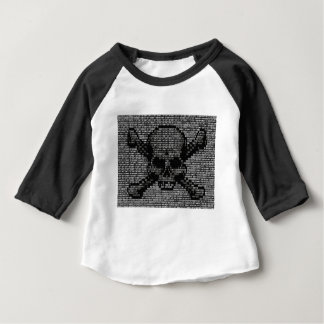 Binary Code Skull and Crossbones Baby T-Shirt