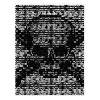 Binary Code Skull and Crossbones Postcard
