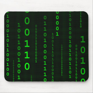 Binary Code square mousepad