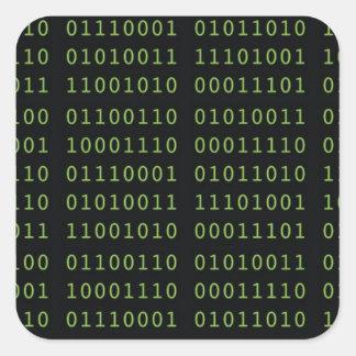 Binary Code Square Sticker