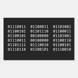 Binary code sticker
