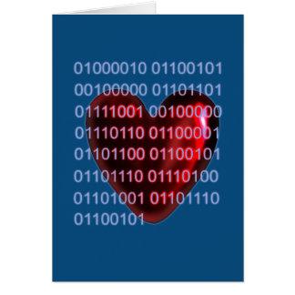 Binary code valentine card