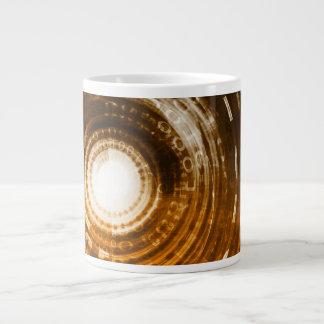 Binary Data Abstract Background for Digital Large Coffee Mug