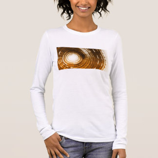 Binary Data Abstract Background for Digital Long Sleeve T-Shirt
