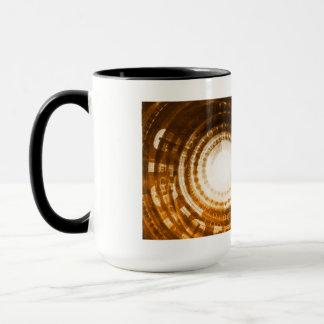 Binary Data Abstract Background for Digital Mug