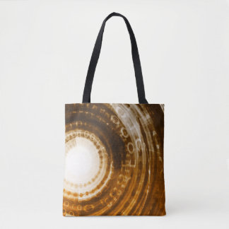 Binary Data Abstract Background for Digital Tote Bag