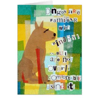 Binary Dingo Greeting Card
