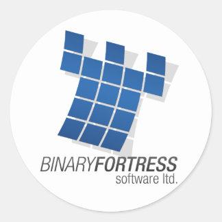 Binary Fortress Sticker (Round)