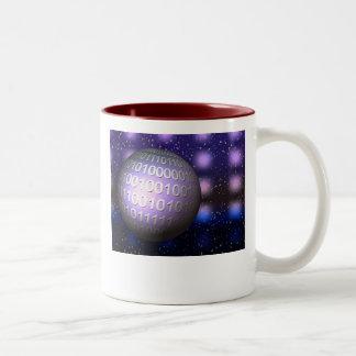 Binary Globe Two-Tone Mug