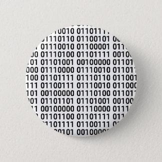 Binary: I Love To Program 6 Cm Round Badge