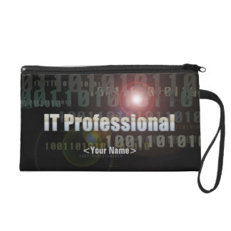 Binary IT Professional Wristlet Clutches