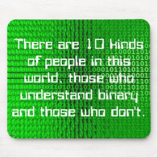 binary joke mouspad mouse pad