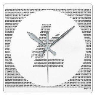 Binary Litecoin Square Wall Clock