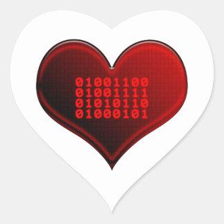 Binary LOVE Sticker