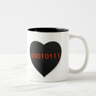 Binary Love Techie Computer Heart Coffee Cup Mugs