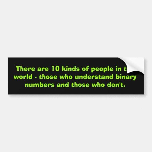 Binary numbers bumper sticker