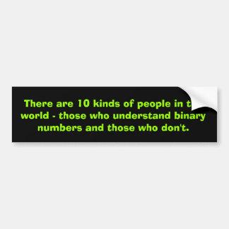 Binary numbers bumper stickers