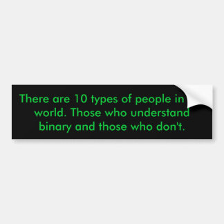 Binary People Bumper Sticker