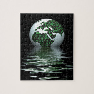 Binary planet jigsaw puzzle