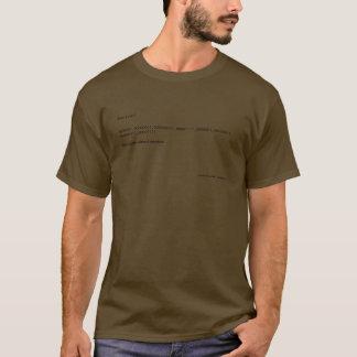 Binary solo! 0000001, 00000011, 000000111, 0000... T-Shirt