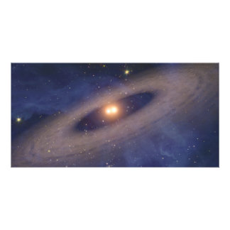 Binary Star Solar System Space Art Picture Card