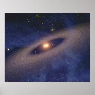 Binary Star Solar System Space Art Print