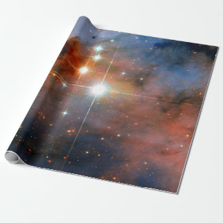 Binary Stars WR 25 & Tr16-244 - Hubble Space Photo Wrapping Paper
