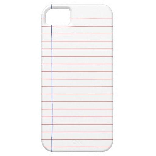 Binder Paper iPhone 5/5s Case