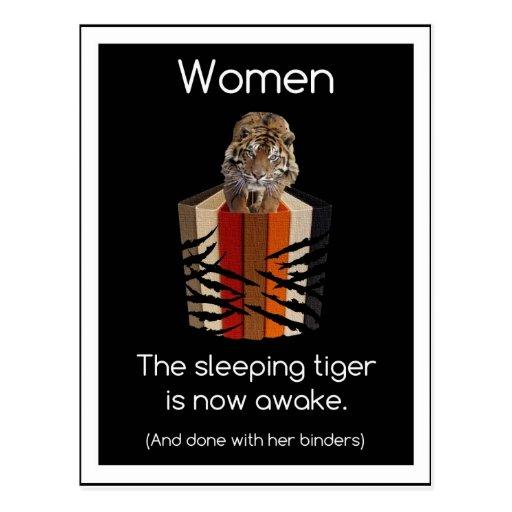 Binders Full of Women Sleeping Tiger Gifts Postcard