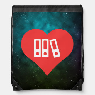 Binders Symbol Drawstring Bag