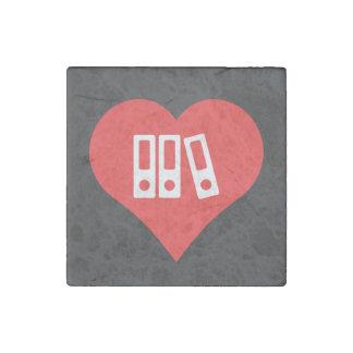 Binders Symbol Stone Magnet