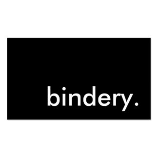 bindery. pack of standard business cards