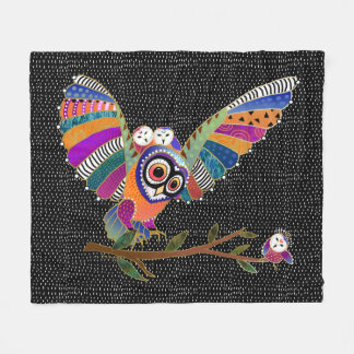 BINDI BARN OWLS fleece blanket