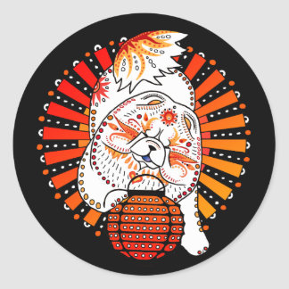BINDI MI TANG -stickers custom background color Classic Round Sticker