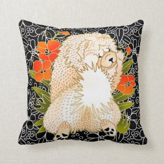 BINDI MINGSIE -cream chow pillow-right/left facing Cushion