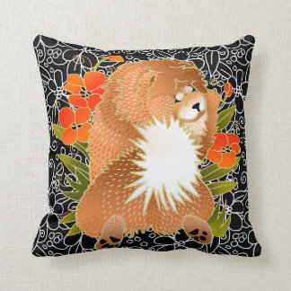 BINDI MINGSIE -red chow pillow-right/left facing Cushion