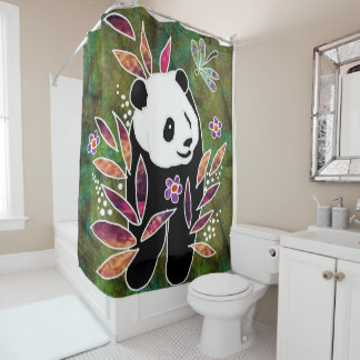 BINDI PANDA -shower curtain Shower Curtain