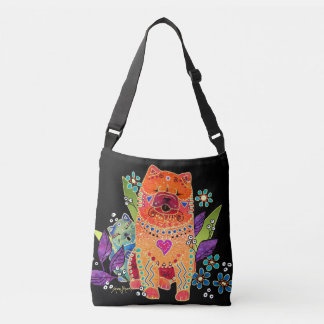 BINDI SMOOTH  Chow  crossbody or tote-2 sizes Crossbody Bag