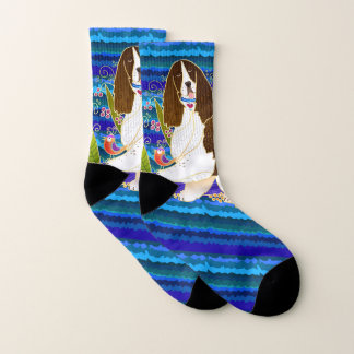 BINDI SPRINGER SPANIEL blue  socks 1