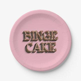 """Binge Cake"" Paper Plates 7"""