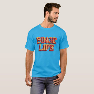 """Binge Life"" Men's Basic Dark T-Shirt"