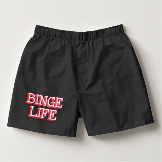 """Binge Life"" Men's Boxercraft Cotton Boxers"