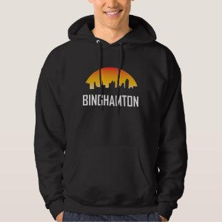 Binghamton New York Sunset Skyline Hoodie