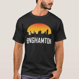 Binghamton New York Sunset Skyline T-Shirt