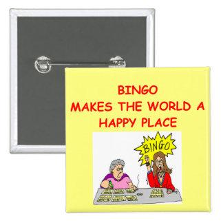 bingo 15 cm square badge