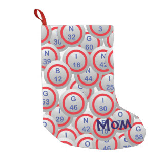 Bingo Balls Mom Small Christmas Stocking