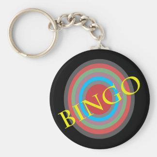 bingo basic round button key ring