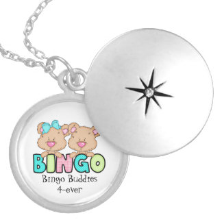 Bingo Buddies 4-ever silver plated locket