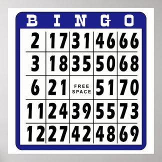 Bingo Card 3 Poster
